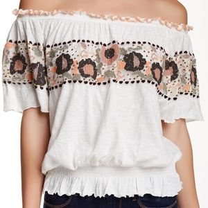 Free People Sienna Embroidered Top
